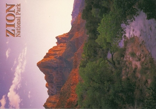 21x Postcard of The Watchman, a monolith of sandstone Zion Natio