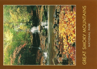 24x Postcard Tom Branch Falls GREAT SMOKY MOUNTAINS NATIONAL PAR