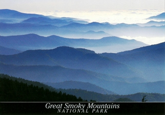 26x Postcard Of the Blue Haze GREAT SMOKY MOUNTAINS NATIONAL PAR