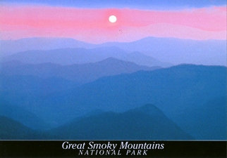 20x Postcard of Sunset in the GREAT SMOKY MOUNTAINS NATIONAL PAR