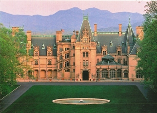 Postcard Biltmore House at Sunset.