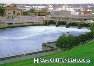33x Postcard of Hiram Chittenden Locks