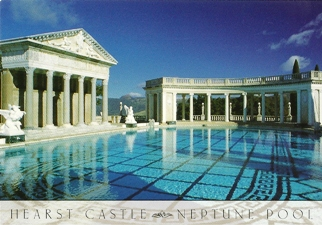 28x Postcard of Neptune Pool Hearst Castle