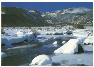 36x Postcard of Colorado Winter