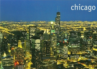20x Postcard Of Dazzling Downtown Chicago