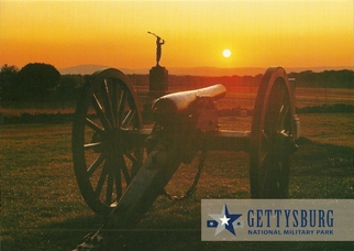 34x Postcard The Lone Soldier GETTYSBURG NATIONAL MILITARY PARK