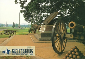27x Postcard High Water Mark Monument GETTYSBURG