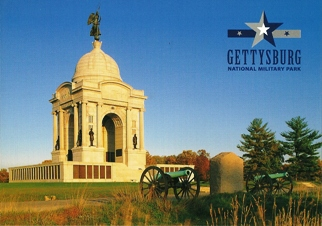 26x Postcard Pennsylvania State Memorial GETTYSBURG NATIONAL MIL
