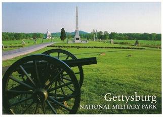 30x Postcard Hancock Avenue Gettysburg NATIONAL MILITARY PARK