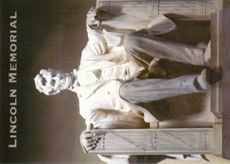 Postcard Of Seated statue of Abraham Lincoln LINCOLN MEMORIAL