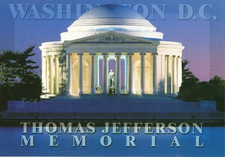 28x Postcard Of THOMAS JEFFERSON MEMORIAL