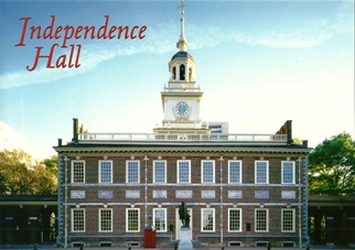 Postcard Of Independence Hall