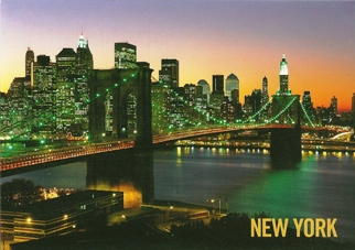 17x Postcard Of The Brooklyn Bridge NEW YORK