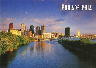 19x Postcard Of Philadelphia Skyline Across the Schuylkill River