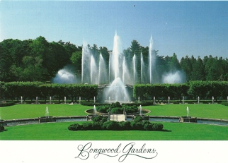 24x Postcard Of  of the Main Fountain Garden Longwood Gardens