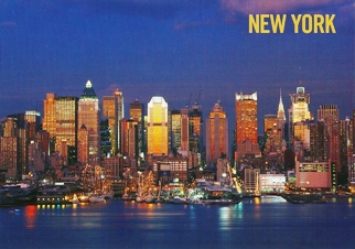 19x Postcard West side of Midtown NEW YORK