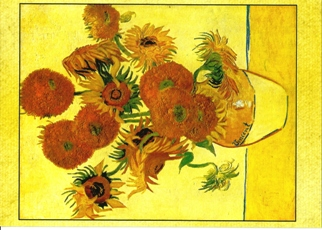 Postcard Of Still Life with Sunflowers Vincent van Gogh.