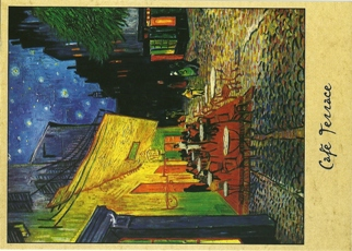 12 (1 Dozen OF The Same Design) Cafe Terrace By Vincent van Gogh