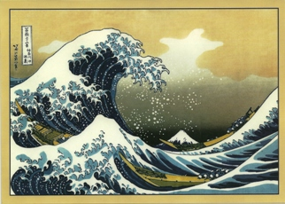 12 (1 Dozen OF The Same Design) Postcard Of The Great Wave off K