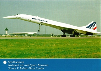 Postcard Air France Concorde Smithsonian National Air and Space