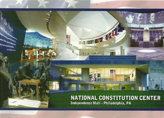 22x POSTCARD OF NATIONAL CONSTITUTION ON CENTER