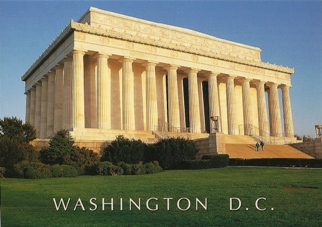 24x Postcard Of Lincoln Memorial Washington D.C. Smithsonian Ins
