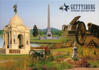 POSTCARD OF GETTYSBURG NATIONAL MILITARY PARK