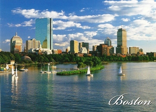25x Postcard Back Bay Skyline BOSTON