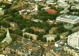 23x Postcard of Harvard Square BOSTON