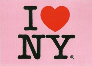 21x Postcard I LOVE NEW YORK (Pink)
