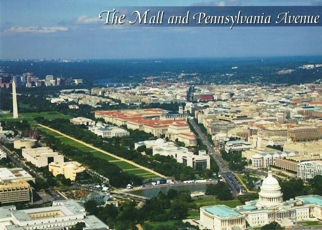 25x Postcard THE MALL AND PENNSYLVANIA AVENUE
