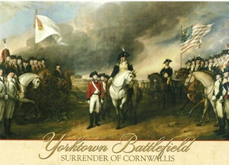 22x Postcard Surrender of Lord Cornwallis at Yorktown  painting