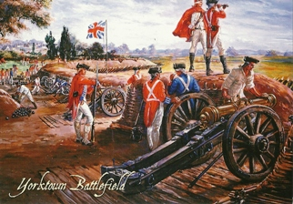 19x Postcard Of British Inner Defense Lines Yorktown Battlefield