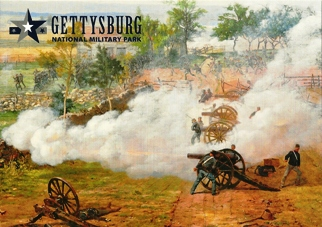 "20x Postcard Cyclorama painting entitled ""The Battle of Gettysbu"
