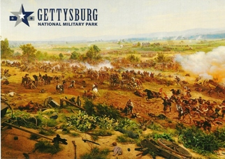 "29x Postcard Cyclorama painting entitled ""The Battle of Gettysbu"