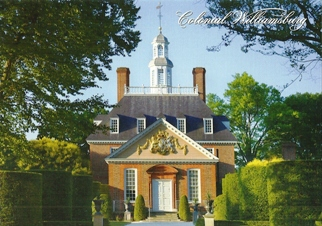 Postcard Of The Governor's Palace Colonial Williamsburg