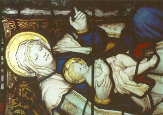 24x Postcard Epiphany window, Bethlehem Chapel at Washington Nat
