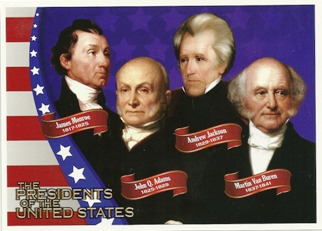 POSTCARD The PRESIDENTS OF THE USA, UNITED STATES FROM 1817 -184