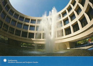 Postcard Cylindrical building Hirshhorn Museum and Sculpture Gar
