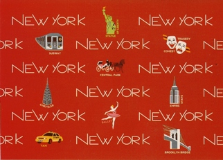 21x Postcard Of NEW YORK (In Words RED)