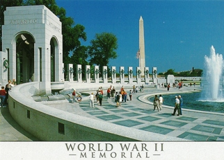 15x POSTCARD OF THE WORLD WAR II MEMORIAL