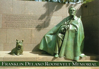 17x POSTCARD FRANKLIN DELANO ROOSEVELT MEMORIAL WASHINGTON, D.C.