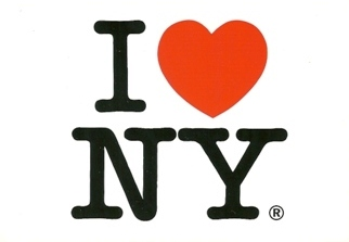 25x Postcard  I LOVE NEW YORK (White)