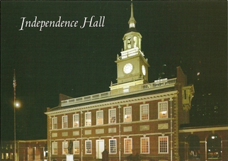 15x Postcard Of Independence Hall