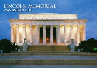 22x Postcard Of Lincoln Memorial WASHINGTON DC