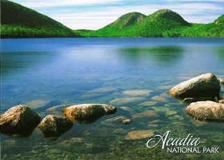24x Postcard Of Jordan Pond and the Bubbles are the handiwork of