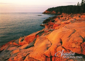 Postcard Of Acadia. National Park