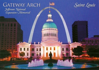 28x Postcard Of Jefferson National Expansion Memorial, Saint Lou