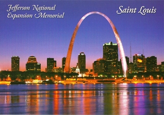 25x Postcard Of Jefferson National Expansion Memorial, Saint Lou