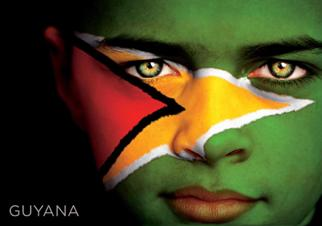 12 (1 Dozen OF The Same Design) Postcard of GUYANA Flag Face